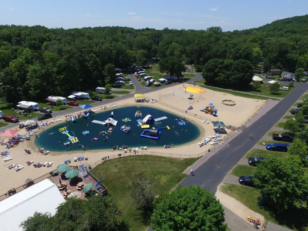 Sky view of Merry Mac's Campground